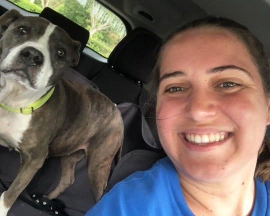 Gucci enjoying a car ride with Brogan Sublett.