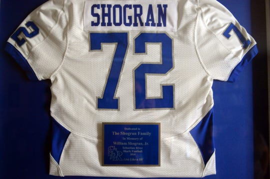 William Shogran Jr. was at a Sebastian River High School football practice in 2014 when he began suffering from heat-related symptoms and died. Shograns parents, Courtney and William Shogran, launched an investigation into his death after school official and police reports differed.