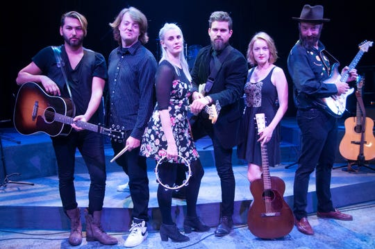 """The company of the theatrical concert """"I Dig Rock and Roll Music"""" is shown. Directed by James O'Neil, it is now playing at the Rubicon Theatre in Ventura."""