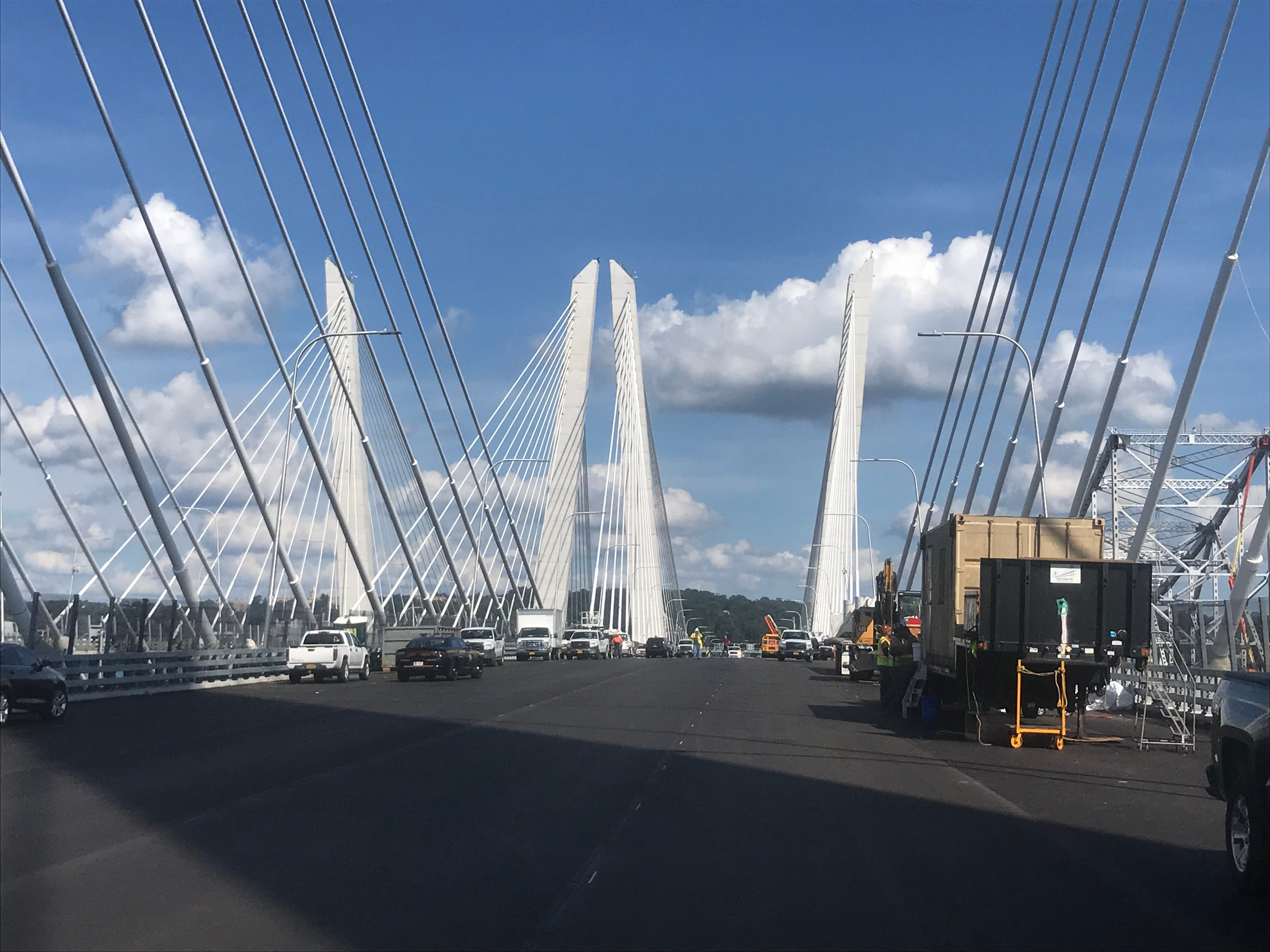 The second span of the Gov. Mario M. Cuomo Bridge that will open to carry Westchester-bound traffic starting Saturday, Sept. 8, 2018. The span is seen on Tuesday, Sept. 4, 2018.