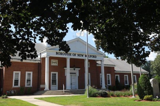 The town hall for the Borough of New Milford in Bergen County Aug. 23, 2018.