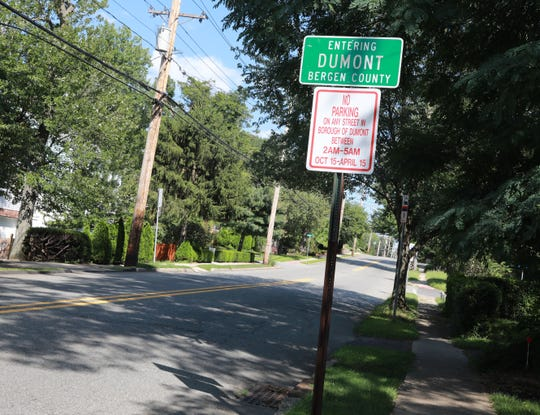 The town line for Dumont on West Madison Avenue in Bergen County Aug. 23, 2018.