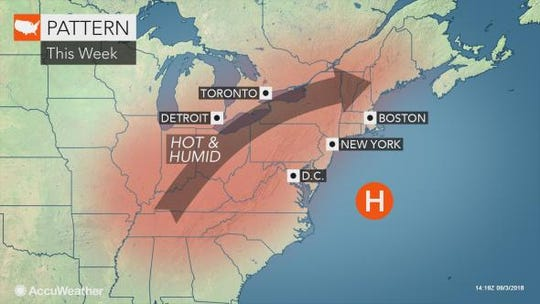 It is expected to be a hot week in the Lower Hudson Valley.