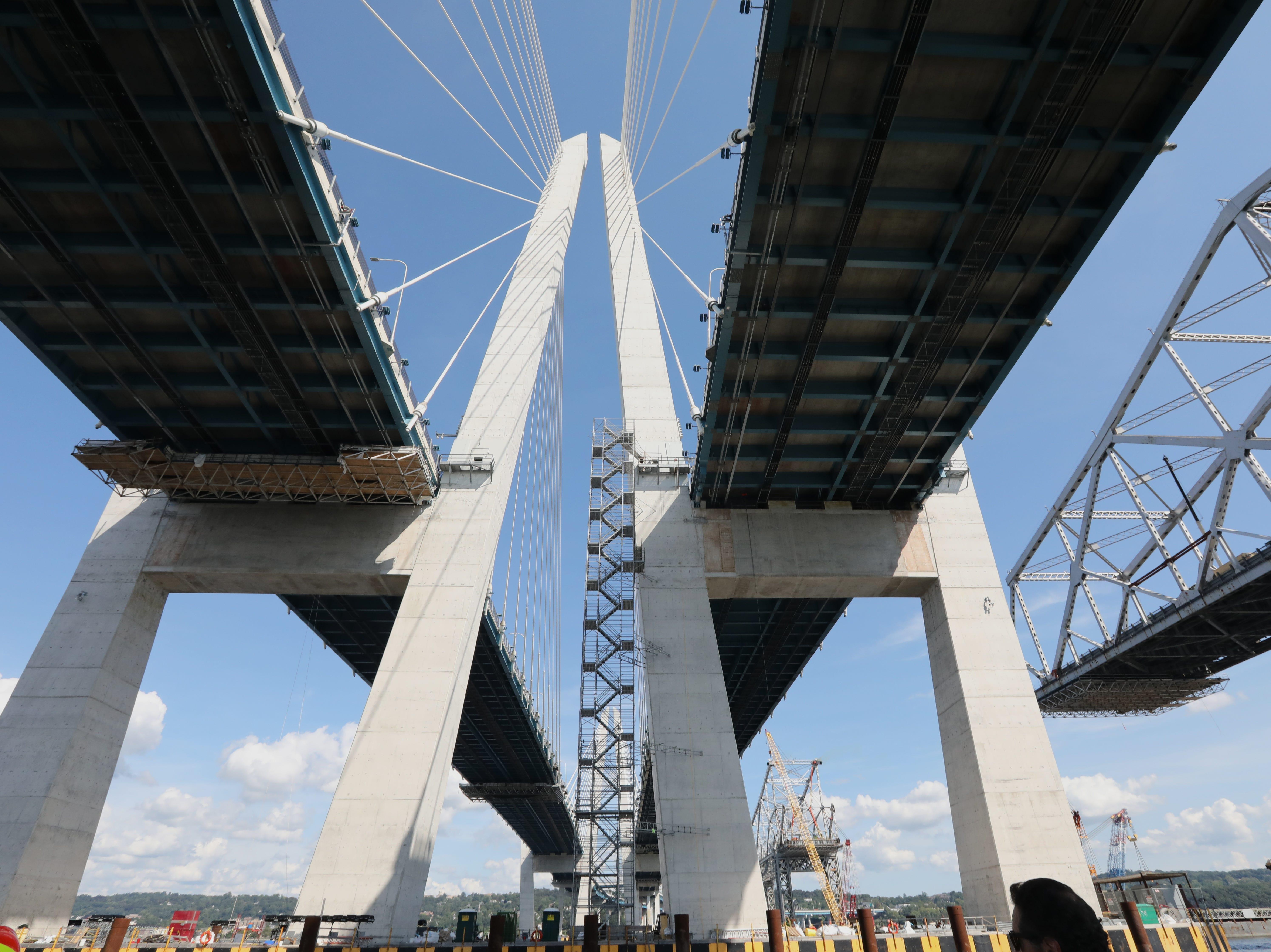 Under the Gov. Mario Cuomo Bridge Sept. 4, 2018.