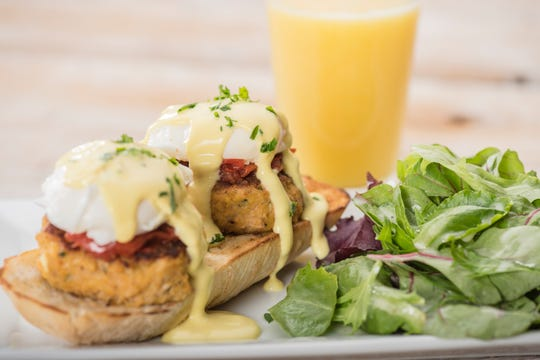 Crab cakes benedict is a seasonal dish from First Watch, a breakfast, lunch and brunch chain that's opening a new eatery later this fall in Stanton.
