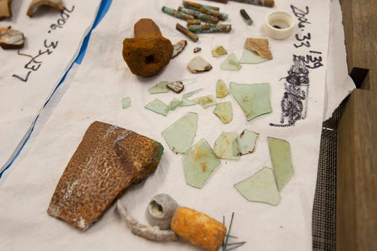 Items from the Roosevelt Inlet shipwreck collection at the archeology lab at Cape Henlopen State Park in Lewes are being moved to the state's archaeological curation facility in Dover.