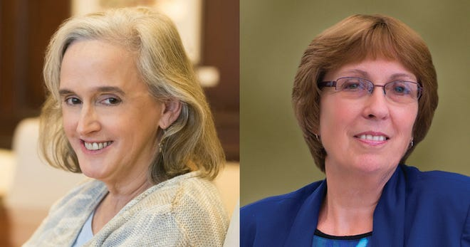 Tracey Quillen Carney (left) is Delaware's First Lady. Annie Norman (right) is Delaware's state librarian and director of the Division of Libraries.