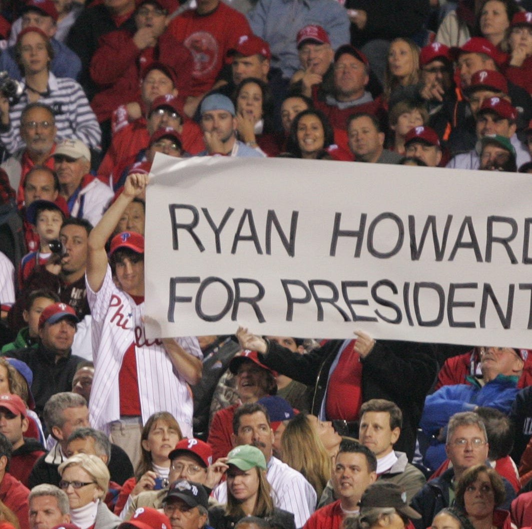 Phillies first baseman and home run hitter Ryan Howard announces his retirement