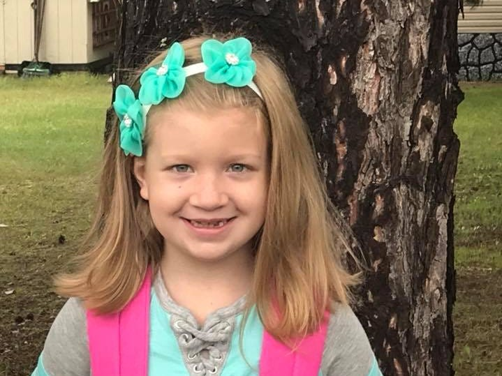 Aubree on her first day of second grade at Roosevelt Elementary School in Plover.
