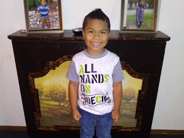 Lorenzo on his first day of pre-kindergarten at Head Start in Stevens Point.