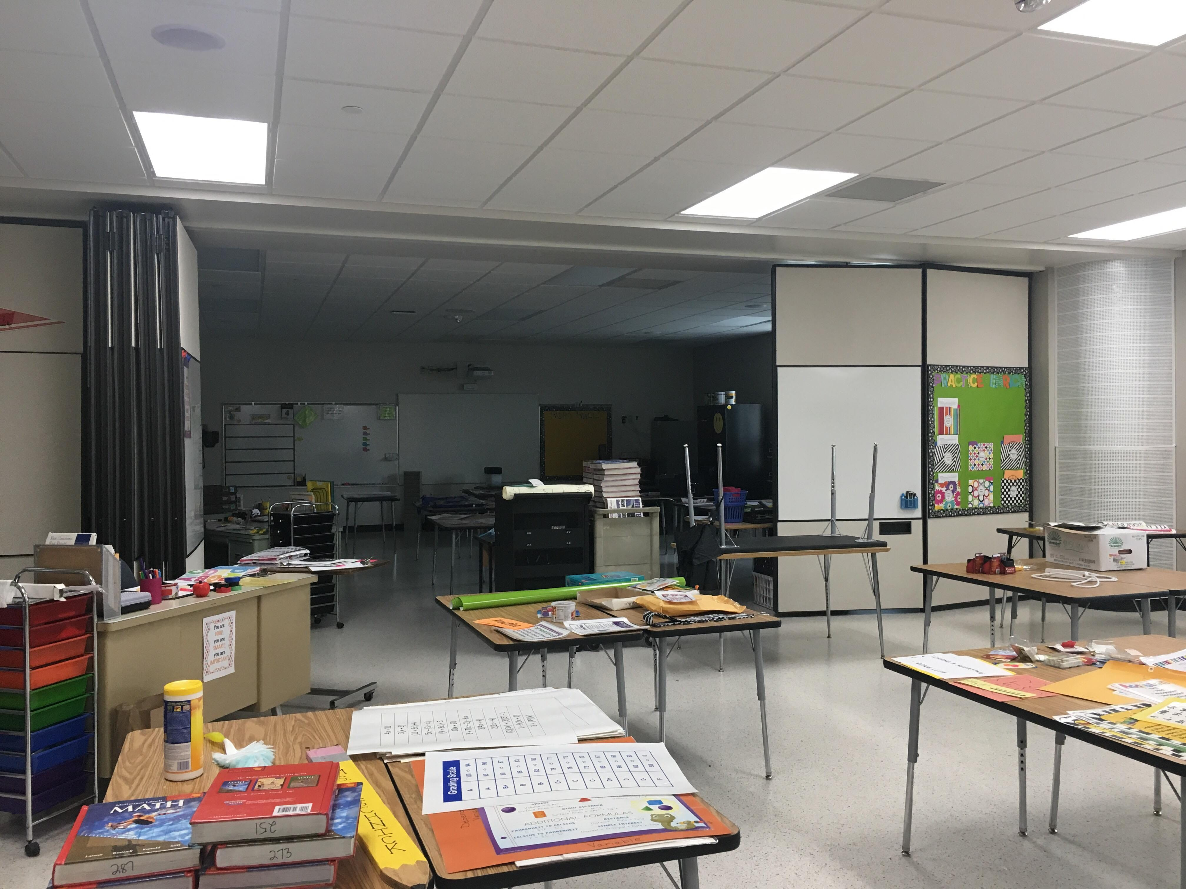 A new sixth-grade classroom at Wisconsin Rapids Area Middle School.
