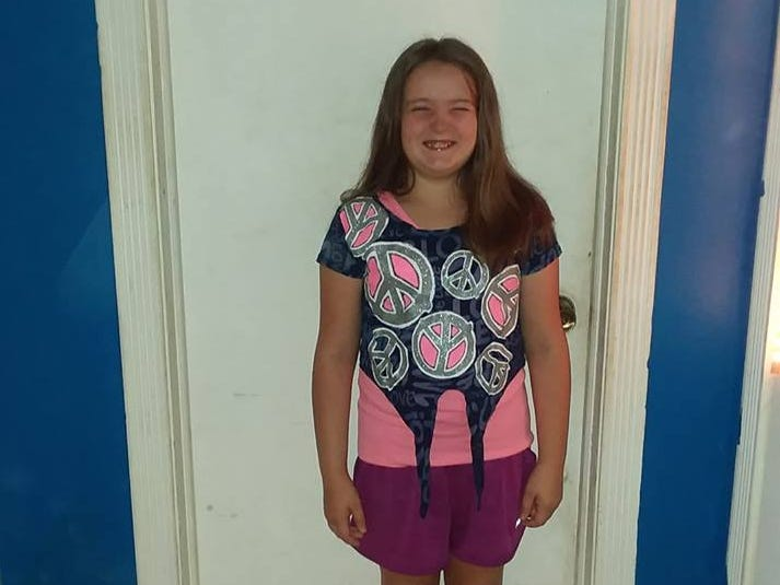 Gabriella on her first day of fifth grade at Plover-Whiting Elementary School.