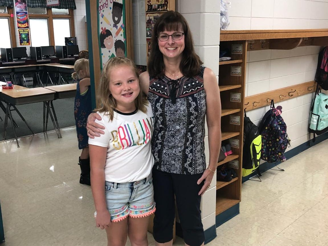 Ava Lee on her first day of third grade at Grant Elementary School in Wisconsin Rapids.