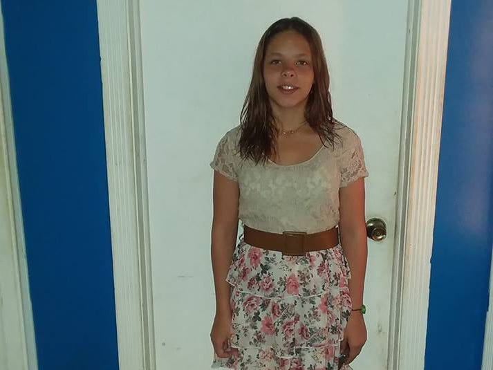 Candice on her first day of eighth grade at Ben Franklin Junior High School in Stevens Point.