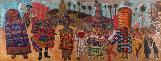 """""""Los Tejanos: Chicano Art from the Cheech Marin Collection features 39 works from Texas based artists, and """"Papel Chicano Dos: Works on Paper from the Collection of Cheech Marin,"""" features 65 pieces by 24 artists."""