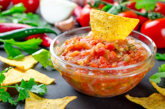 Traditional Mexican Homemade Salsa Sauce With Ingredients Tomat
