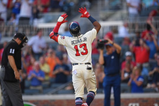 Braves left fielder Ronald Acuna Jr.