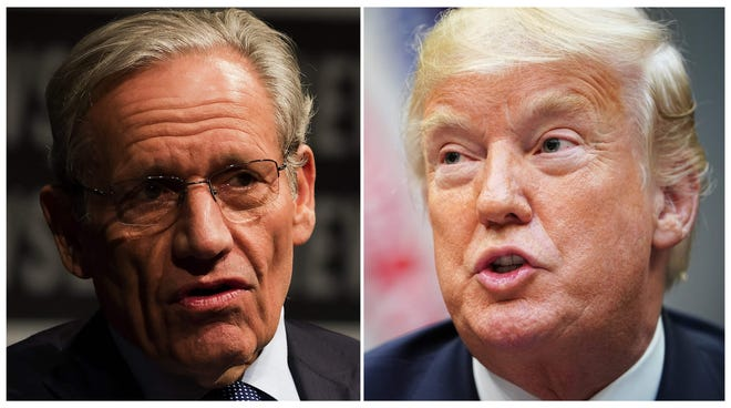 President Donald Trump and Bob Woodward