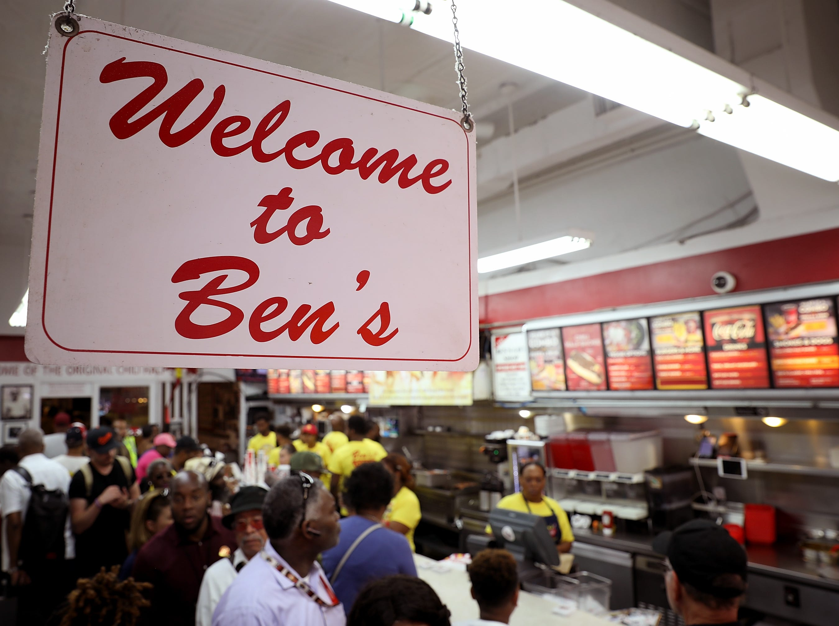 Washington D.C. residents enjoy the 60th birthday block party for area landmark Ben's Chili Bowl Aug. 22, 2018 in Washington, DC.
