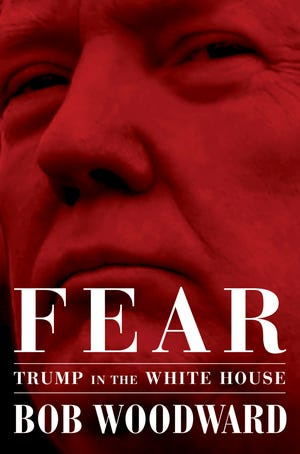 "This image released by Simon & Schuster shows ""Fear: Trump in the White House,"" by Bob Woodward, available on Sept. 11."