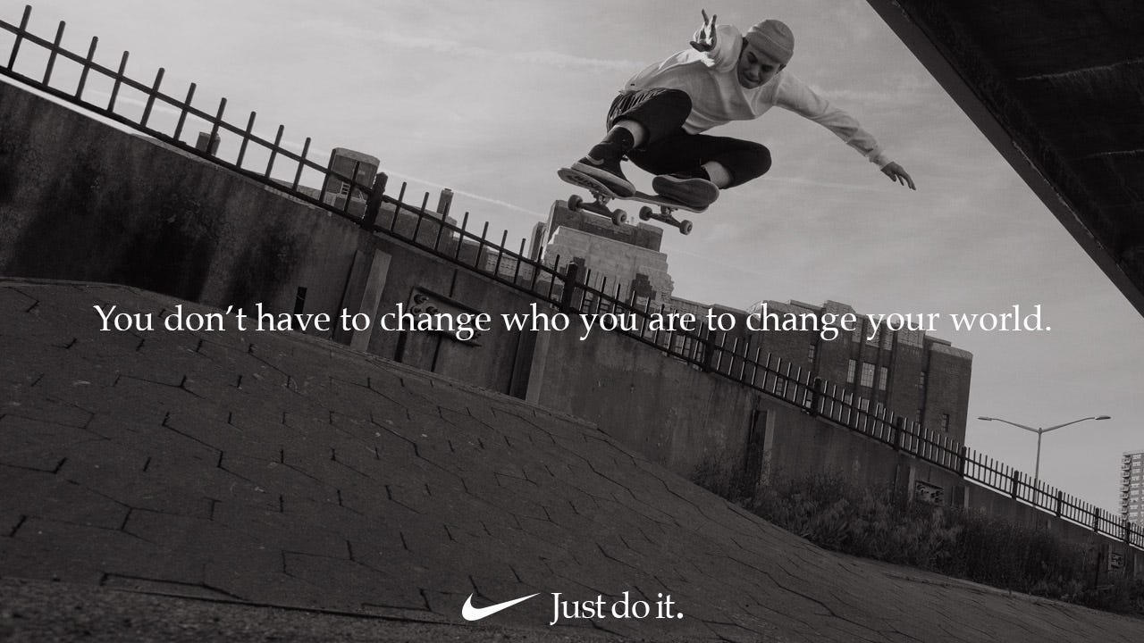 Nike ad featuring Lacey Baker.