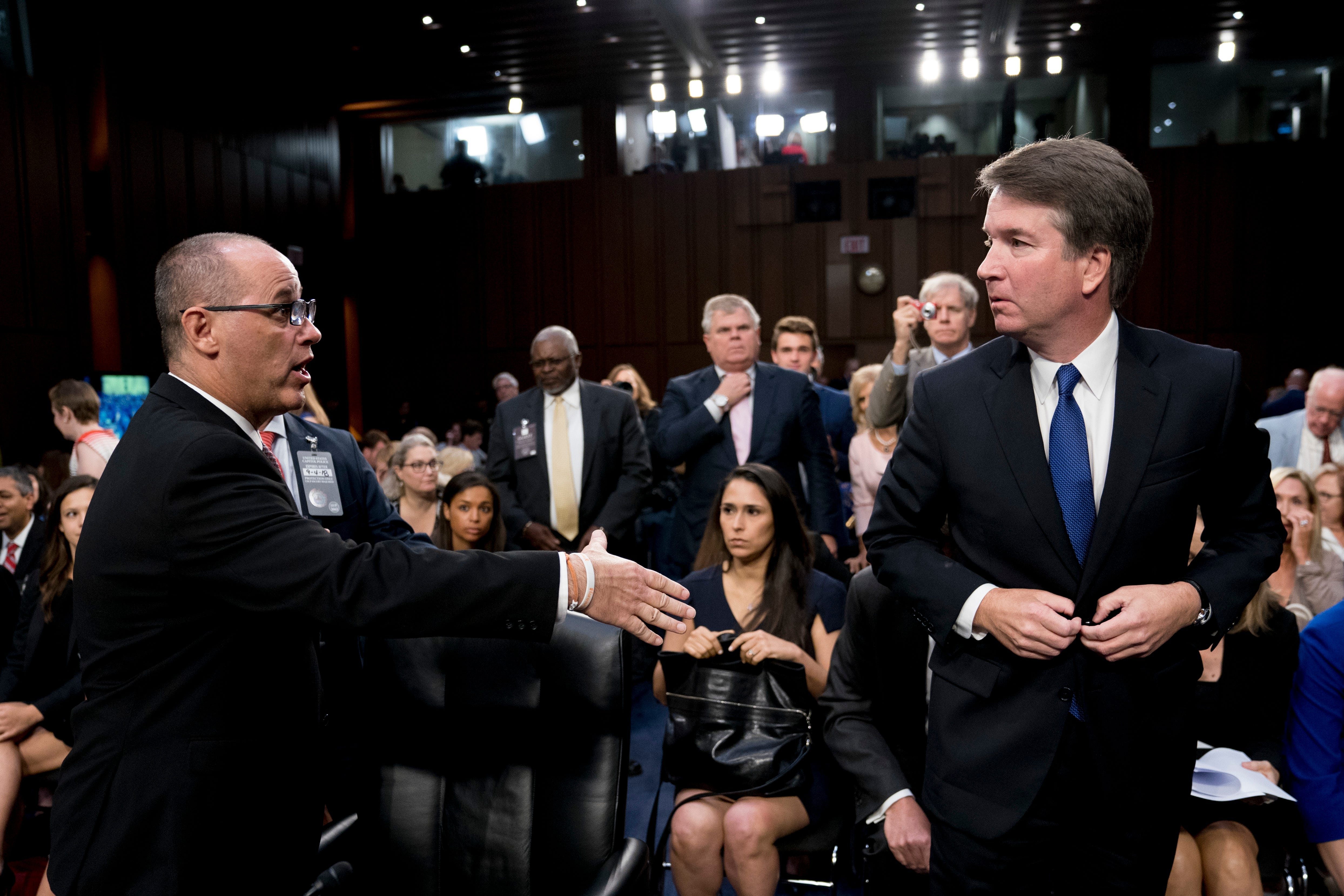 Parkland victim's father tries to shake Brett Kavanaugh's hand during hearing