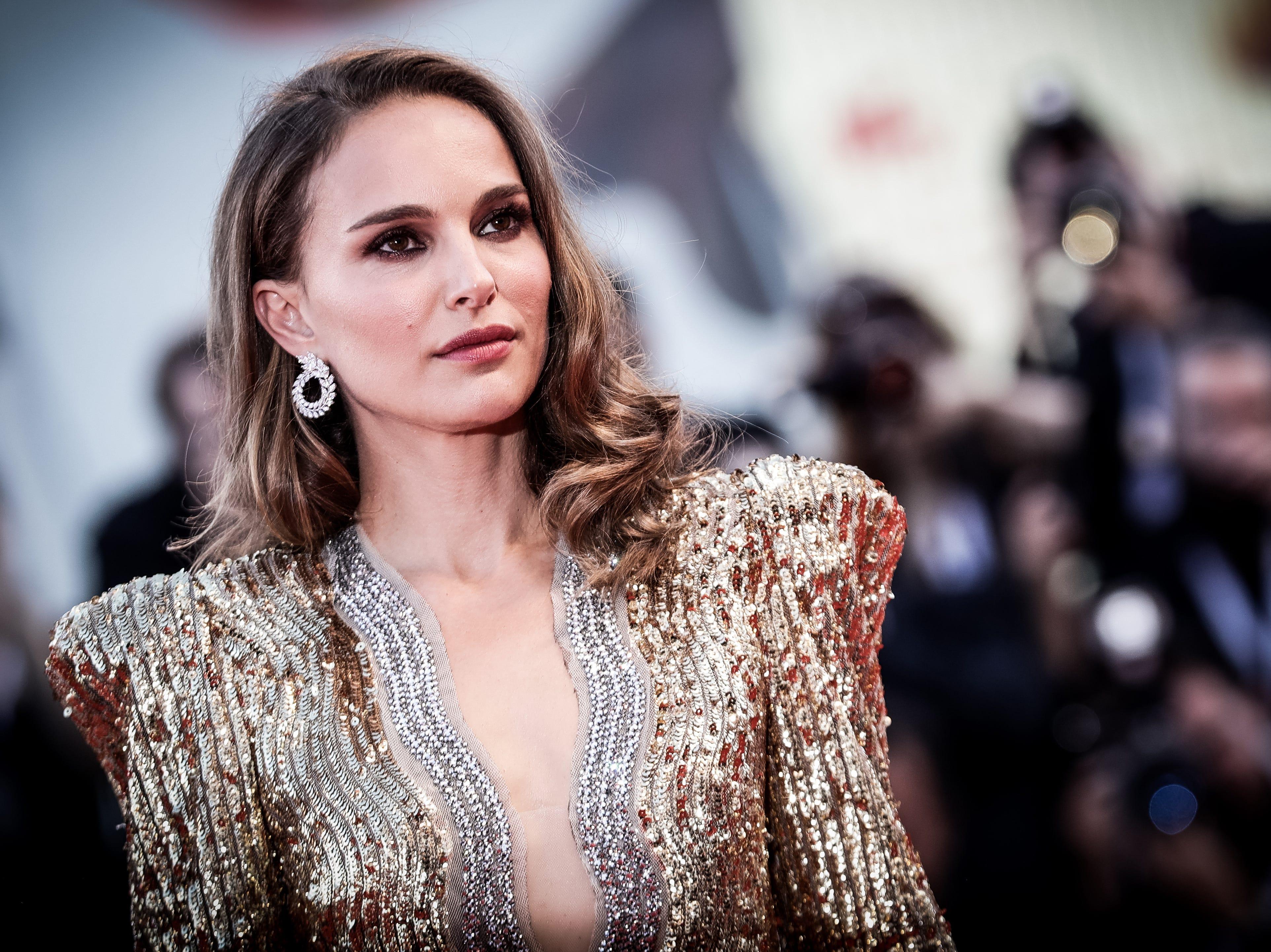 Natalie Portman walks the red carpet ahead of the 'Vox Lux' screening.