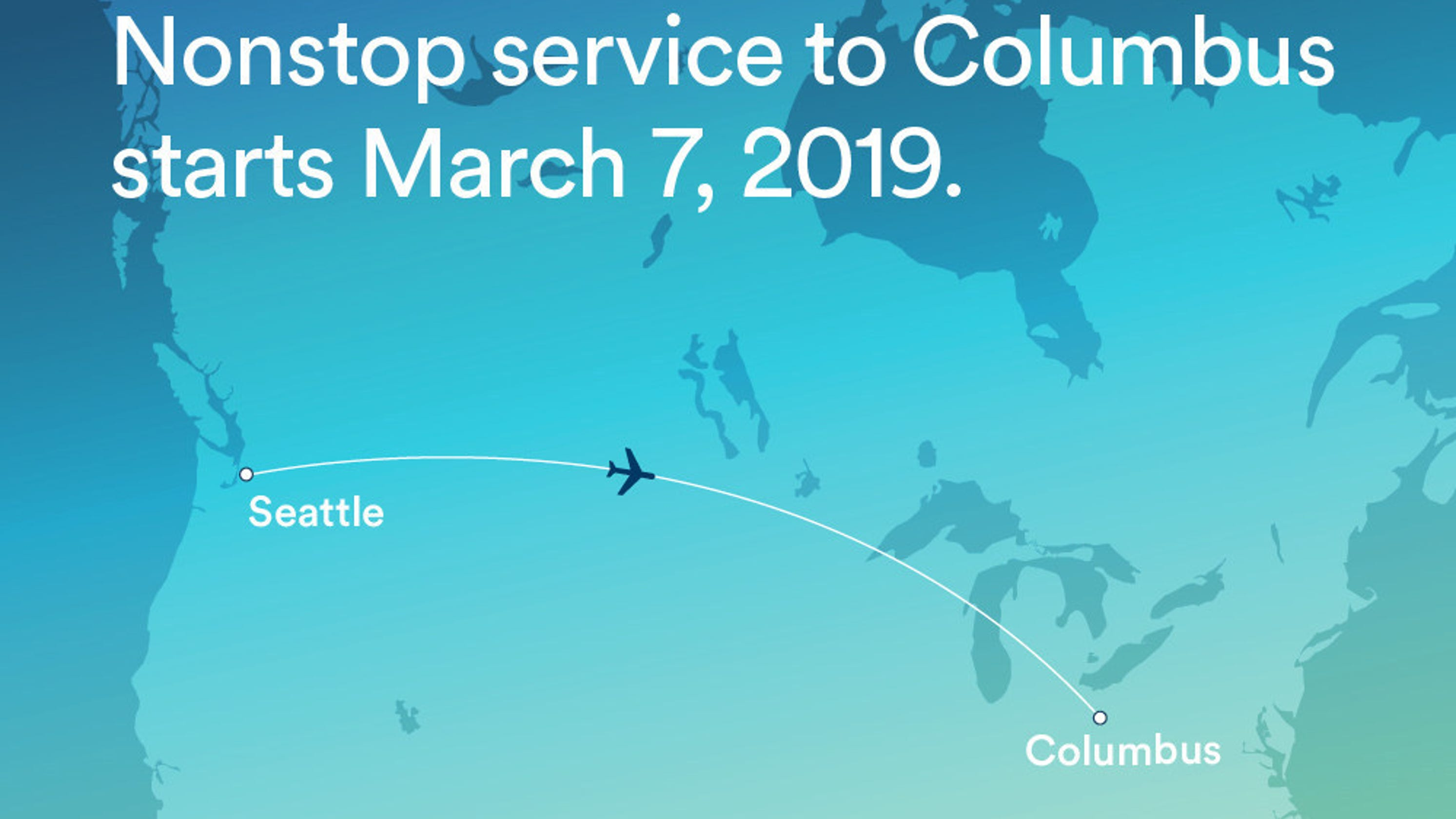 Alaska Airlines Nonstop Flights From Seattle To Columbus