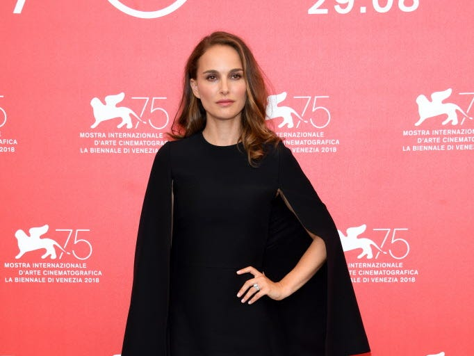 VENICE, ITALY - SEPTEMBER 04:  Natalie Portman attends 'Vox Lux' photocall during the 75th Venice Film Festival at Sala Casino on September 4, 2018 in Venice, Italy.  (Photo by Daniele Venturelli/Daniele Venturelli/WireImage) ORG XMIT: 775200678 ORIG FILE ID: 1026637570