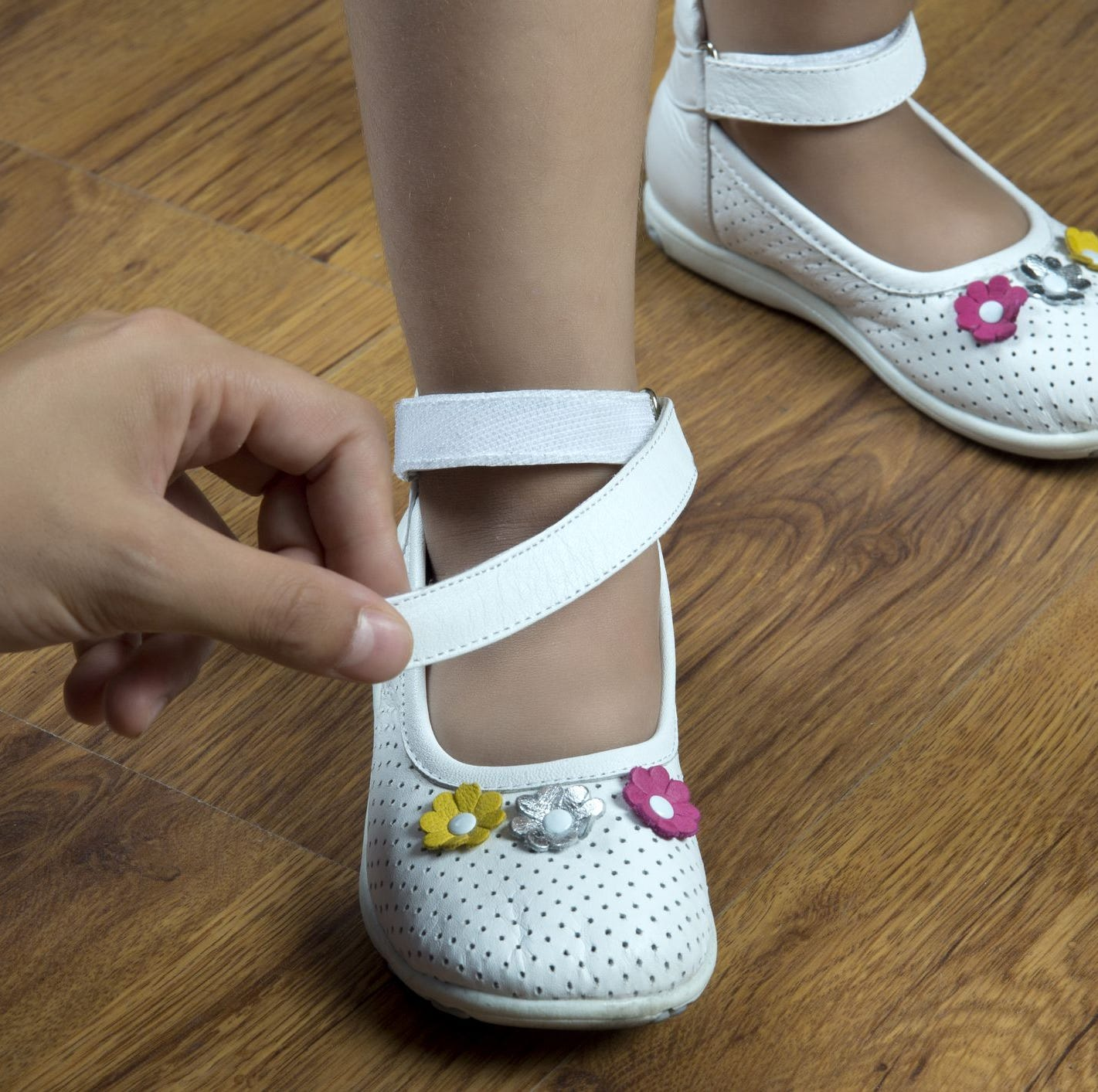 A 4-year-old girl was hospitalized with sepsis after trying on new school shoes.