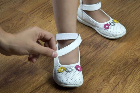 A 4-year-old girl was hospitalized with sepsis after trying on new school shoes without wearing socks.