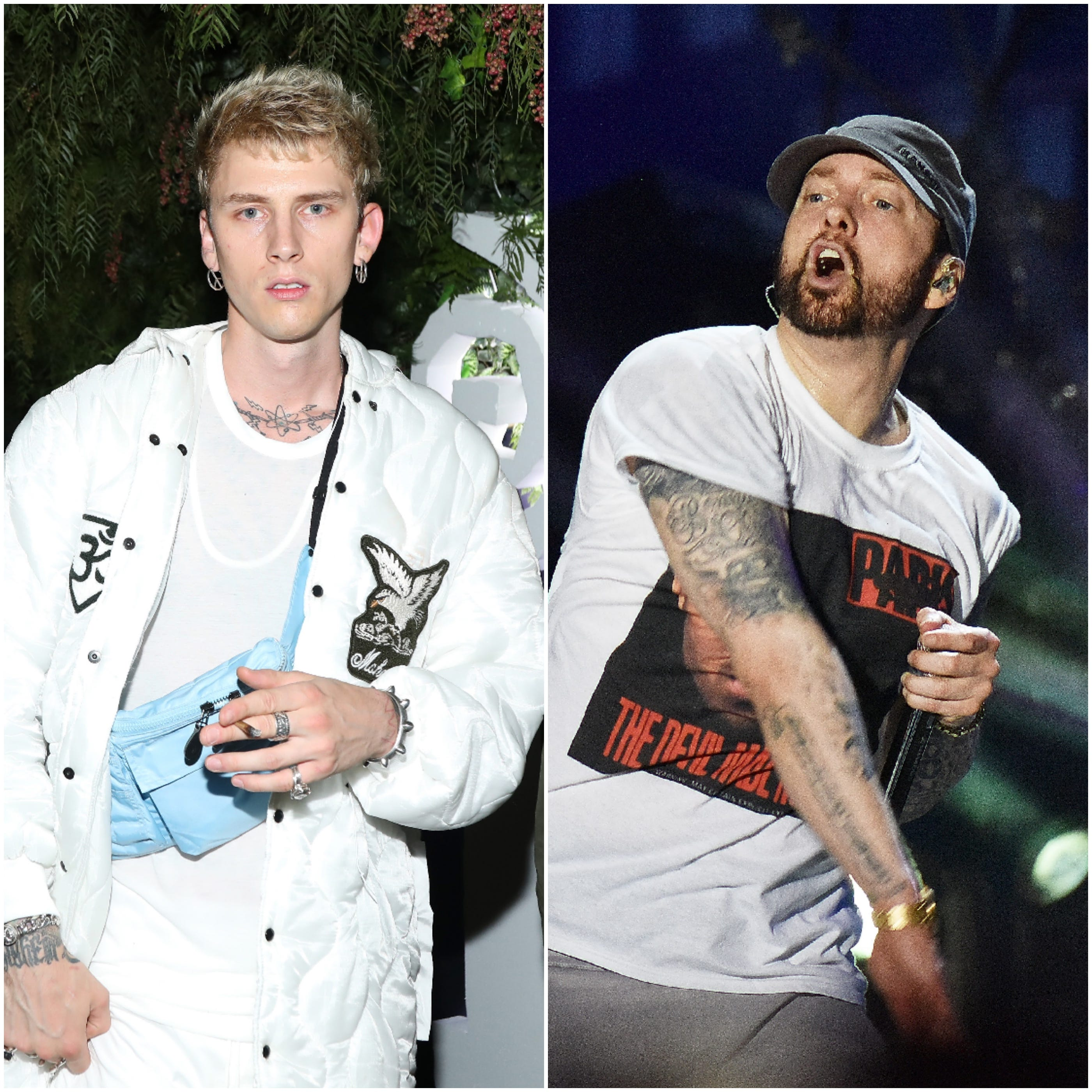 Machine Gun Kelly says he won't make peace with Eminem in ongoing feud