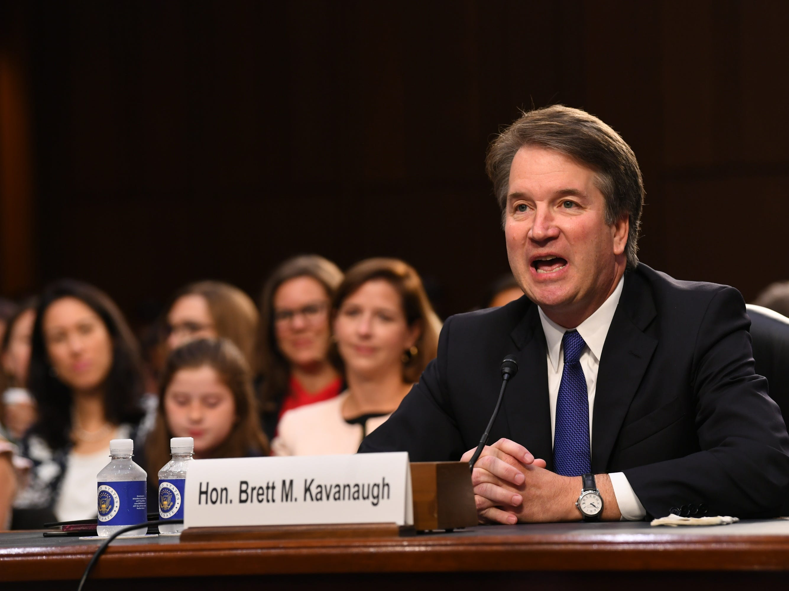 Supreme Court Associate Justice nominee Brett Kavanaugh appears before the Senate Judiciary Committee during his confirmation hearing on Sept. 4, 2018 in Washington.