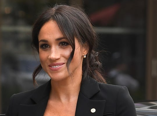 Duchess Meghan of Sussex arrives for the annual WellChild Awards ceremony at the Royal Lancaster Hotel in London, Sept. 4, 2018.