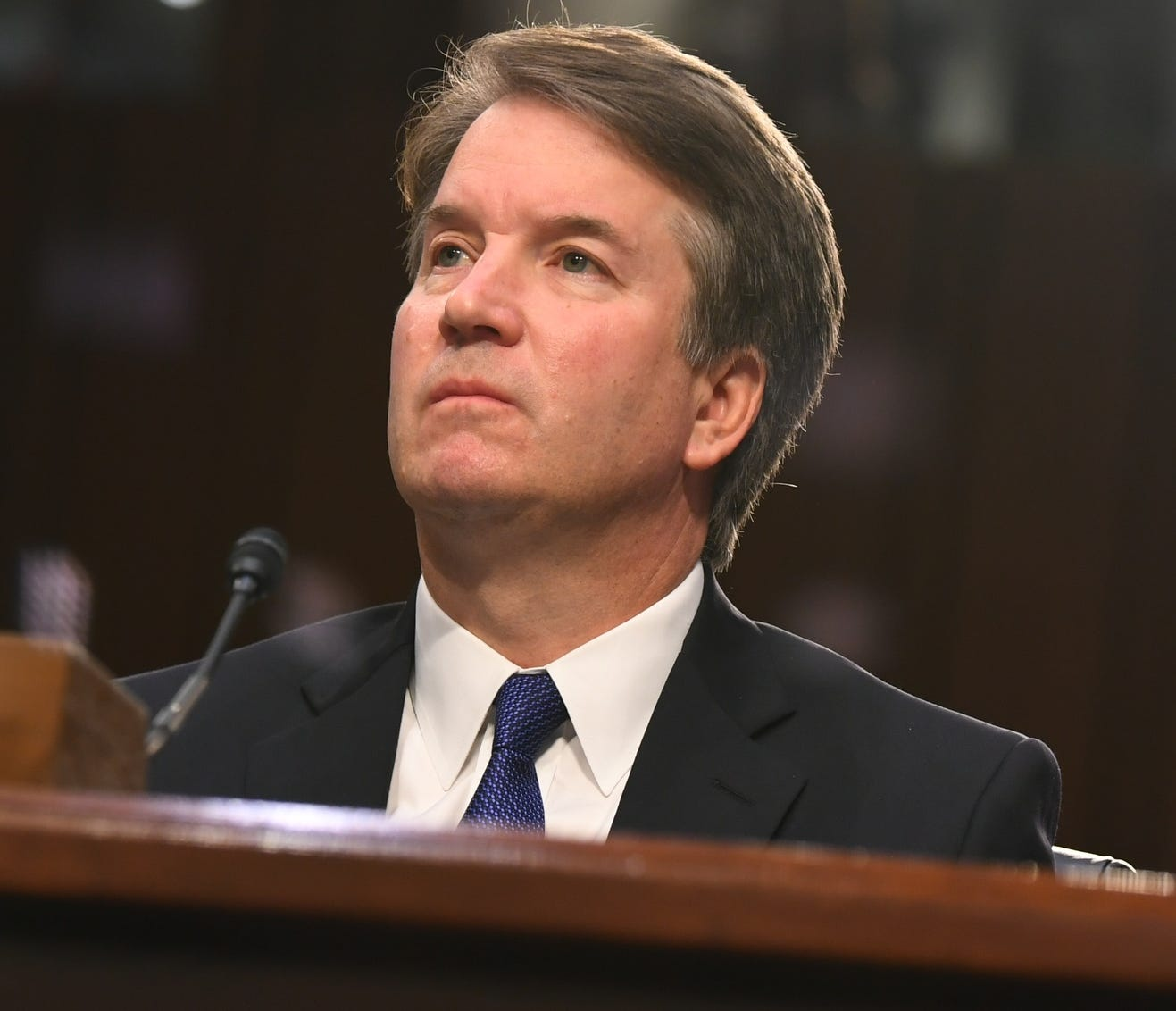 9/4/18 10:30:56 AM -- Washington, DC, U.S.A  -- Supreme Court Associate Justice nominee Brett Kavanaugh appears before the Senate Judiciary Committee during his confirmation hearing on Sept. 4, 2018 in Washington. Kavanaugh was nominated by President Donald Trump to replace Justice Anthony Kennedy,who retired from the Supreme Court in July.  --    Photo by Jack Gruber, USA TODAY Staff ORG XMIT:  JG 137433 Kavanaugh Confir 9/4/2018 (Via OlyDrop)
