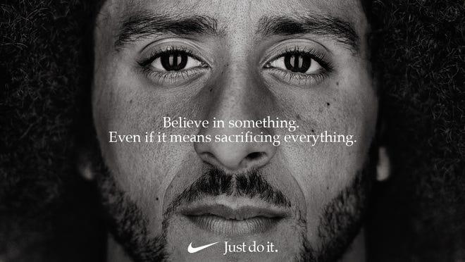 Nike ad featuring Colin Kaepernick.