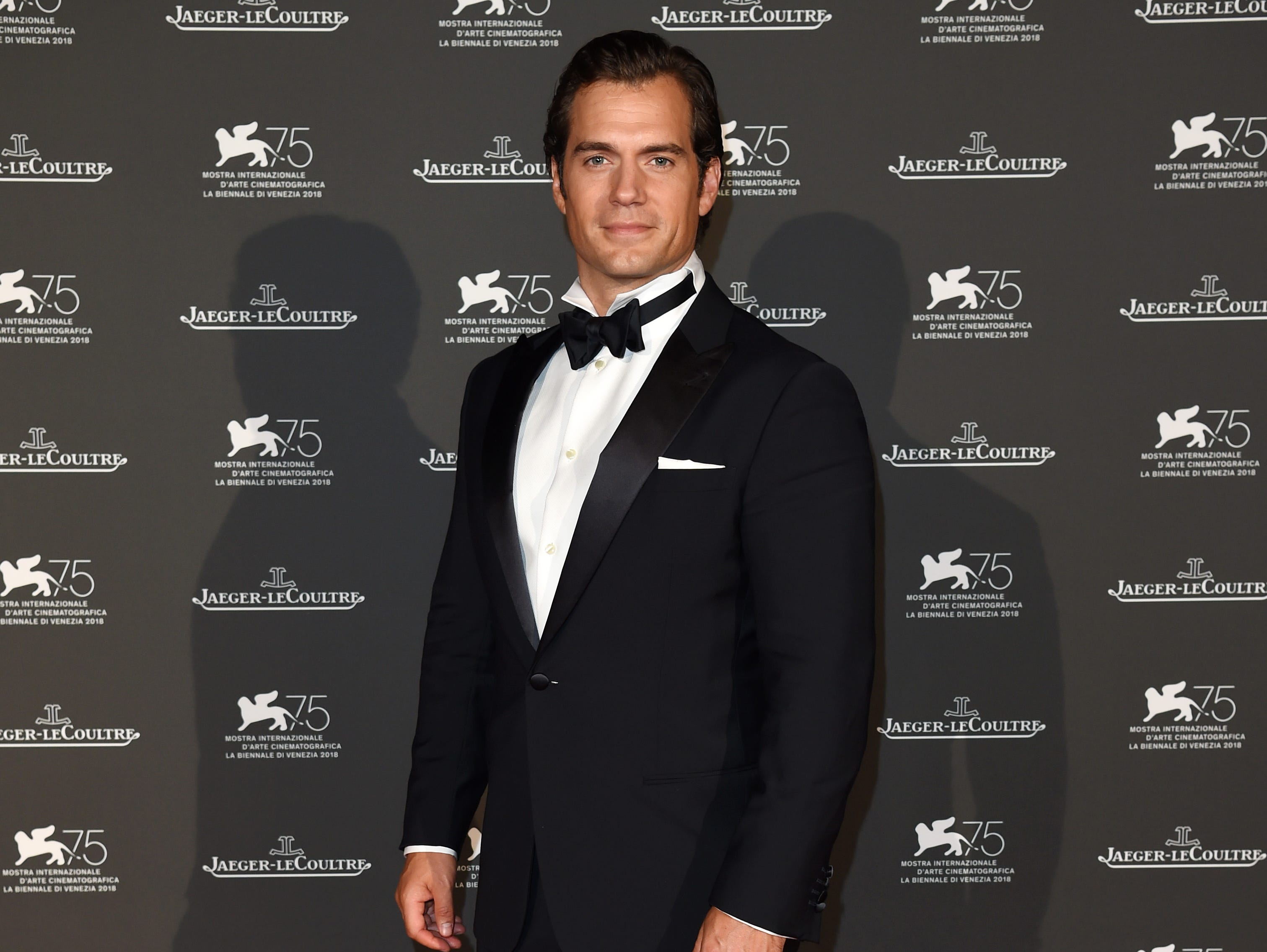 Henry Cavill arrives for the Jaeger-LeCoultre Gala Dinner on Tuesday.