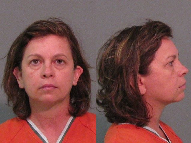 Lana Sue Clayton, 52, was booked for the murder of her husband on August 31. She allegedly poisoned him with eye drops.