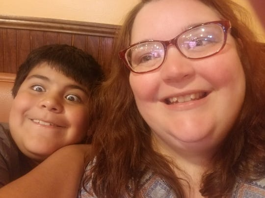 Tara Williams and her son, Lucas, have a little fun with a selfie.