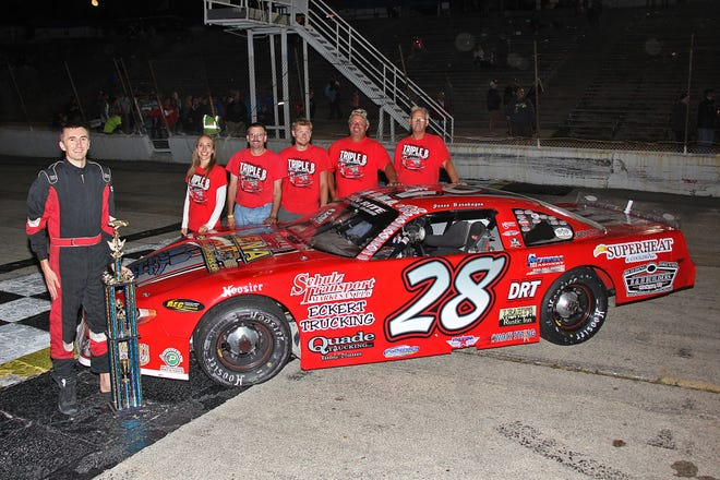 Jesse Bernhagen and his race team earned the late model track championship at Wisconsin International Raceway this season.