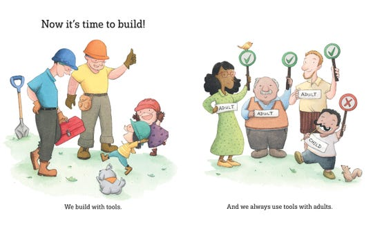 "A page from ""What Can You Do With A Toolbox,"" by Anthony Carrino and John Colaneri."