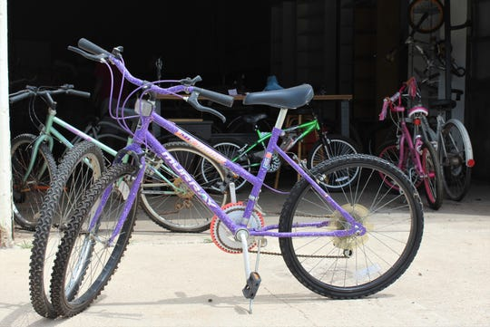 Bikes of all sizes, styles and colors await those who come to the Community Bike Shop in hopes of finding two-wheel transportation.