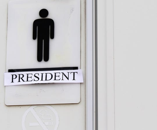Men's entrance to the Presidential Rest Stop.