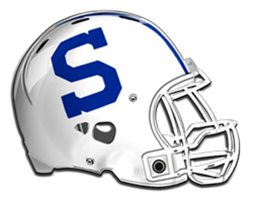 Stamford football helmet