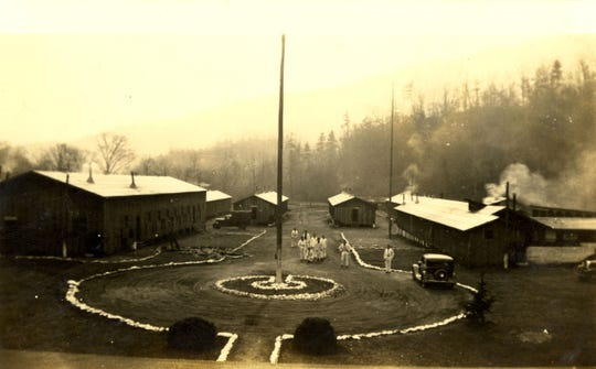 CCC Camp in Smokemont, 1933. The image is owned by Great Smoky Mountains National Park and is included in WCU's online digital collection, created through cooperative arrangements.
