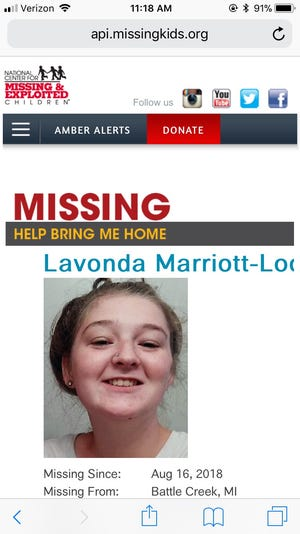 Battle Creek police are asking for help to find Lavonda Marriott-Lockmiller