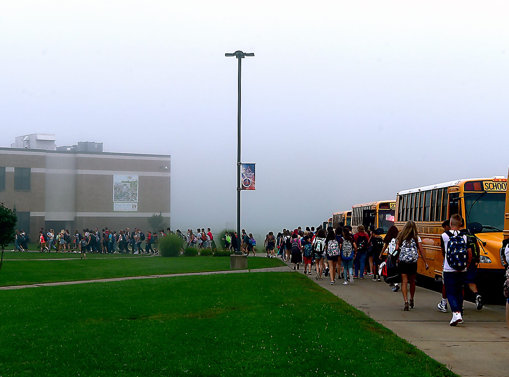 First day of classes at Owego Apalachin Middle School and Owego Free Academy, Wednesday, September 5, 2018.