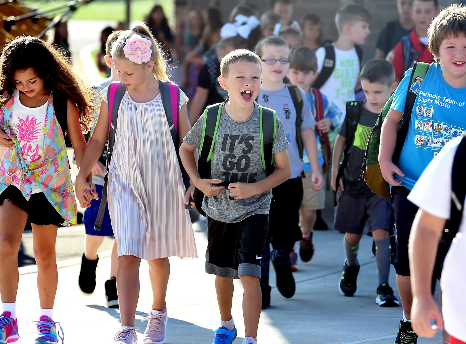 First day of classes at Owego Elementary School, Owego, Wednesday, September 5, 2018.