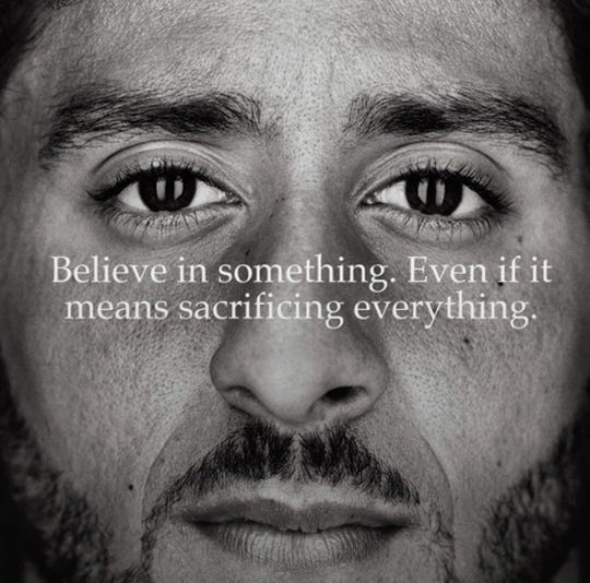 """Nike has made Colin Kaepernick one of the faces of its 30th anniversary """"Just Do It"""" advertising campaign."""