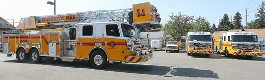 The Bremerton Fire Department's new ladder truck.